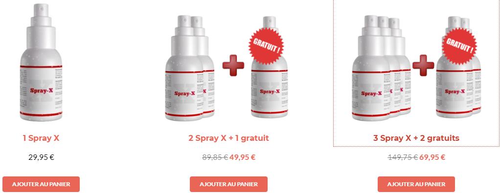 Acheter Spray X